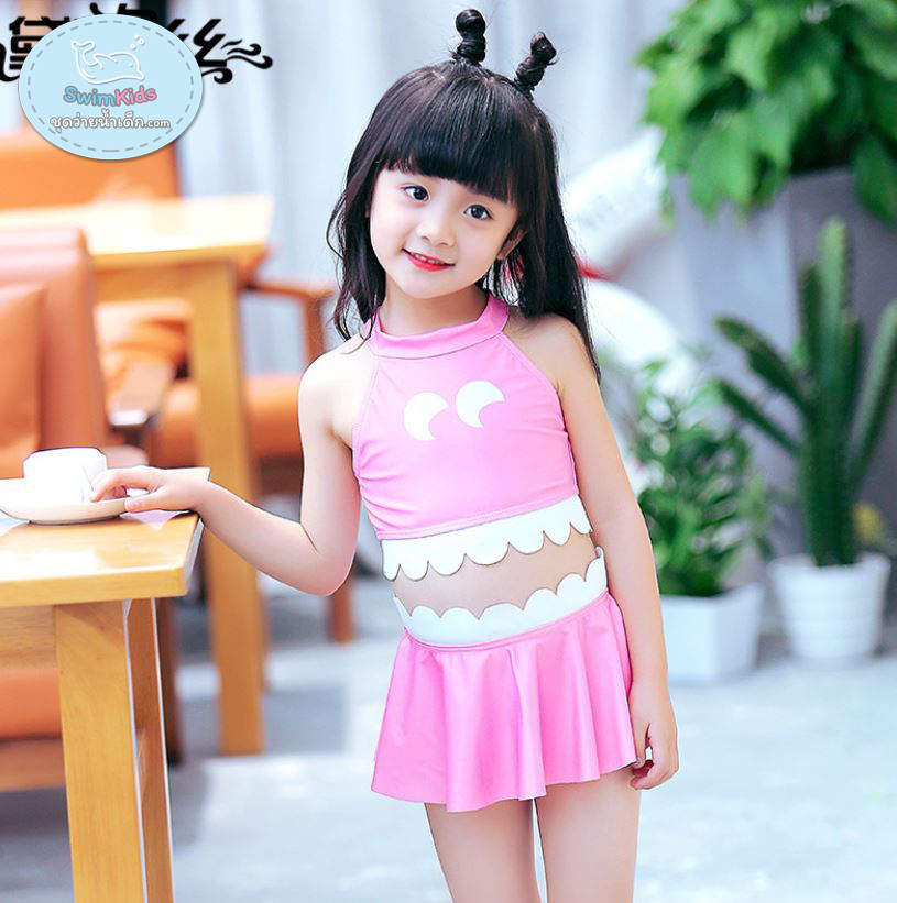 ชุดว่ายน้ำเด็กหญิงแฟนซี สีชมพู