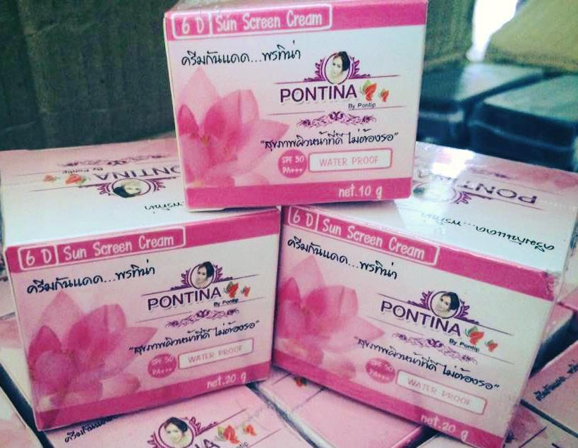 ครีมกันแดด 6D พรทิน่า PONTINA 10 g.