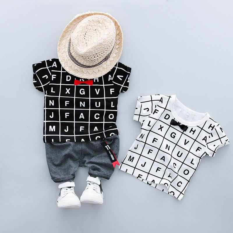 ชุดเซตเสื้อสีดำลายตัวหนังสือ+กางเกงสีเทา แพ็ค 4 ชุด [size 6m-1y-2y-3y]