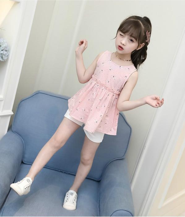เสื้อ สีชมพู แพ็ค 5 ชุด ไซส์ 110-120-130-140-150 (เลือกไซส์ได้)