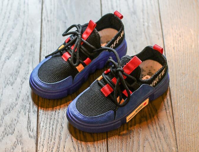 รองเท้าเด็กแฟชั่น สีน้ำเงิน แพ็ค 5 คู่ ไซต์ 31-32-33-34-35