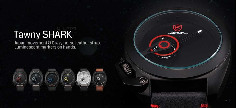 นาฬิกาข้อมือผู้ชาย shark รุ่นใหม่