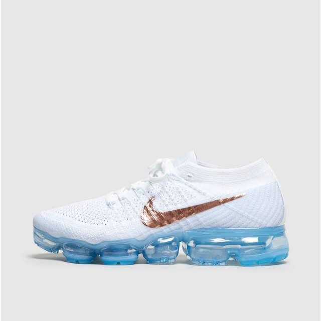 Nike Air VaporMax White/Light Blue/Metallic Red Bronze