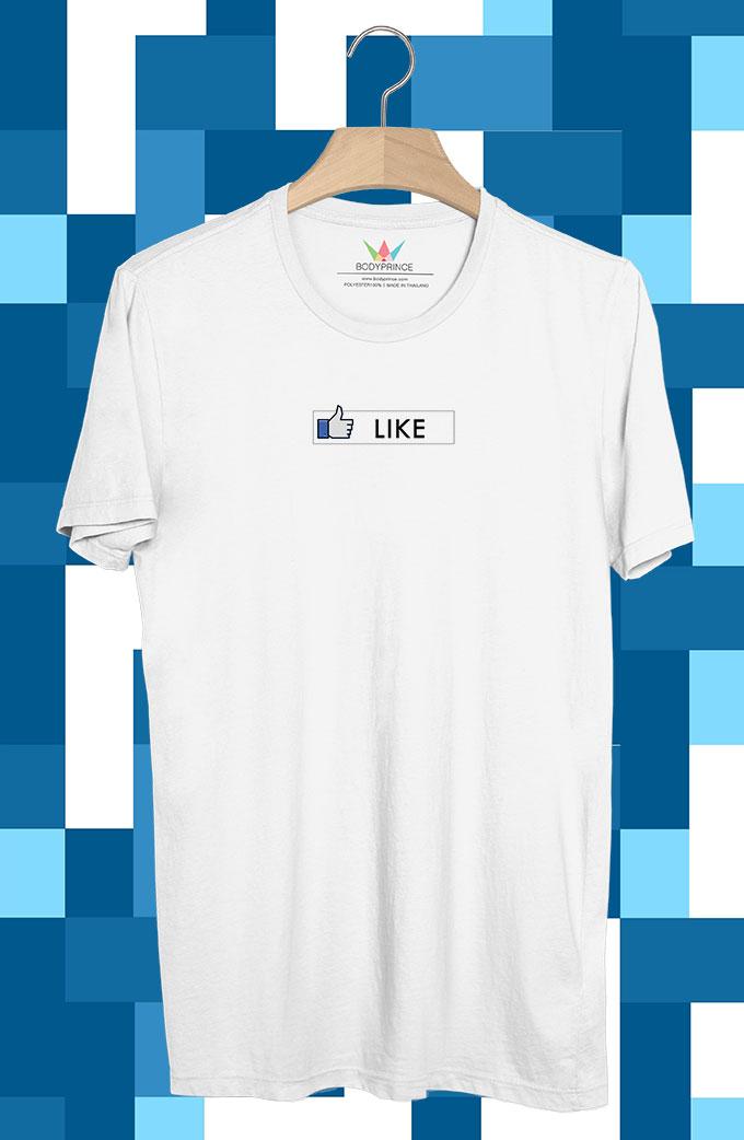 BP194 เสื้อยืด Like แนวนอน