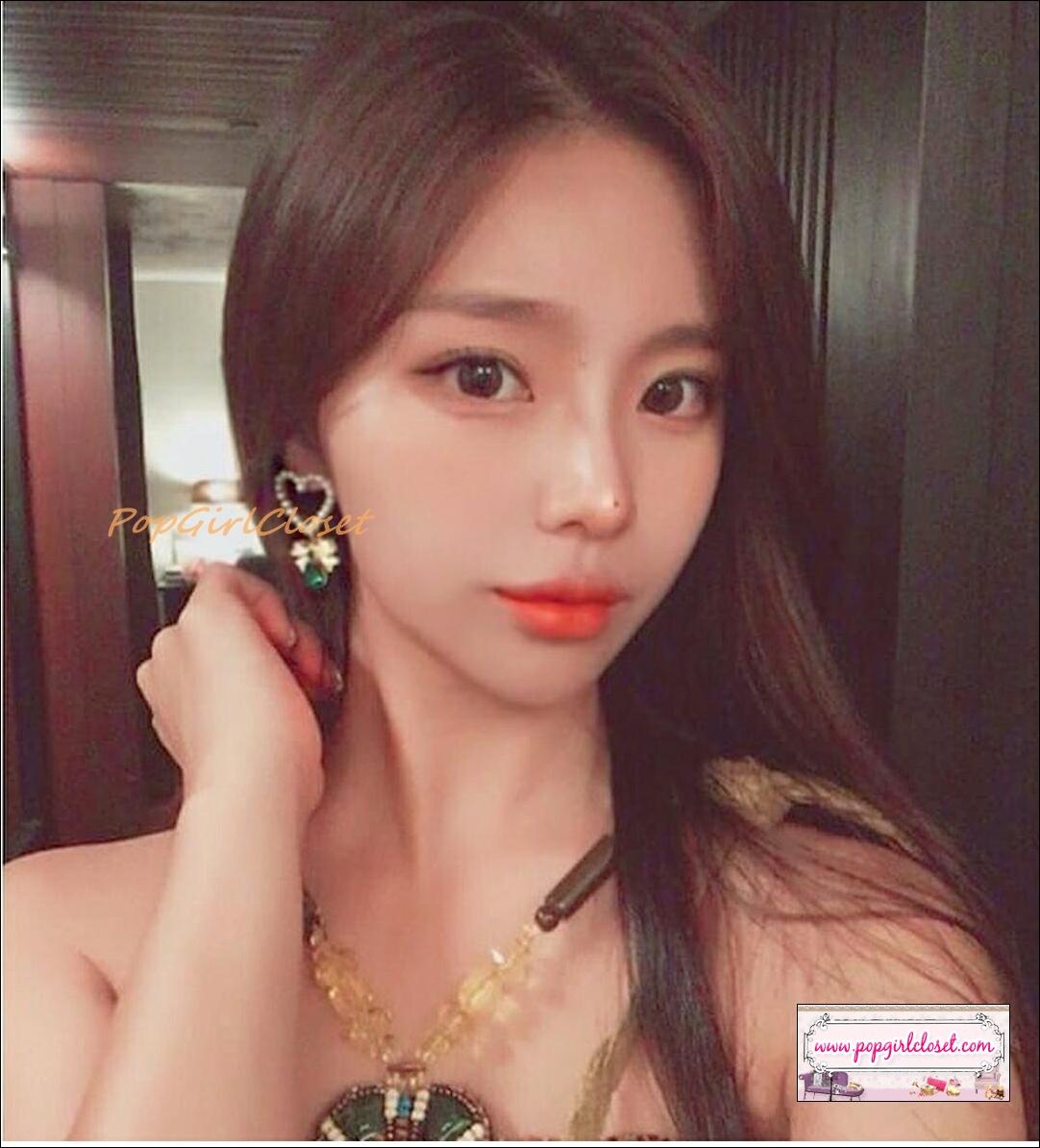 ต่างหูแฟชั่นเกาหลี Korean New Charm Pearl Love Heart Bow Shiny Water Drop Rhinestone Jewelry Earrings