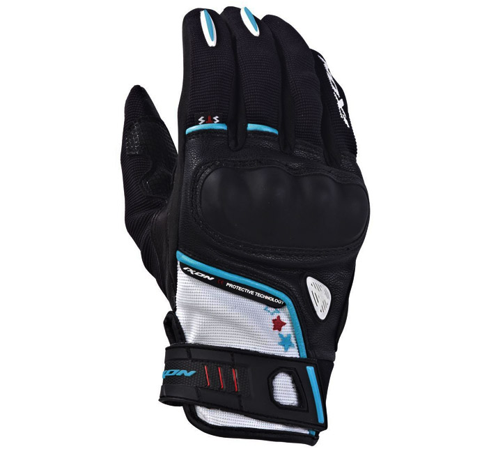 IXON RS GRIP LADY HP - BLACK/WHITE/TURQUOISE