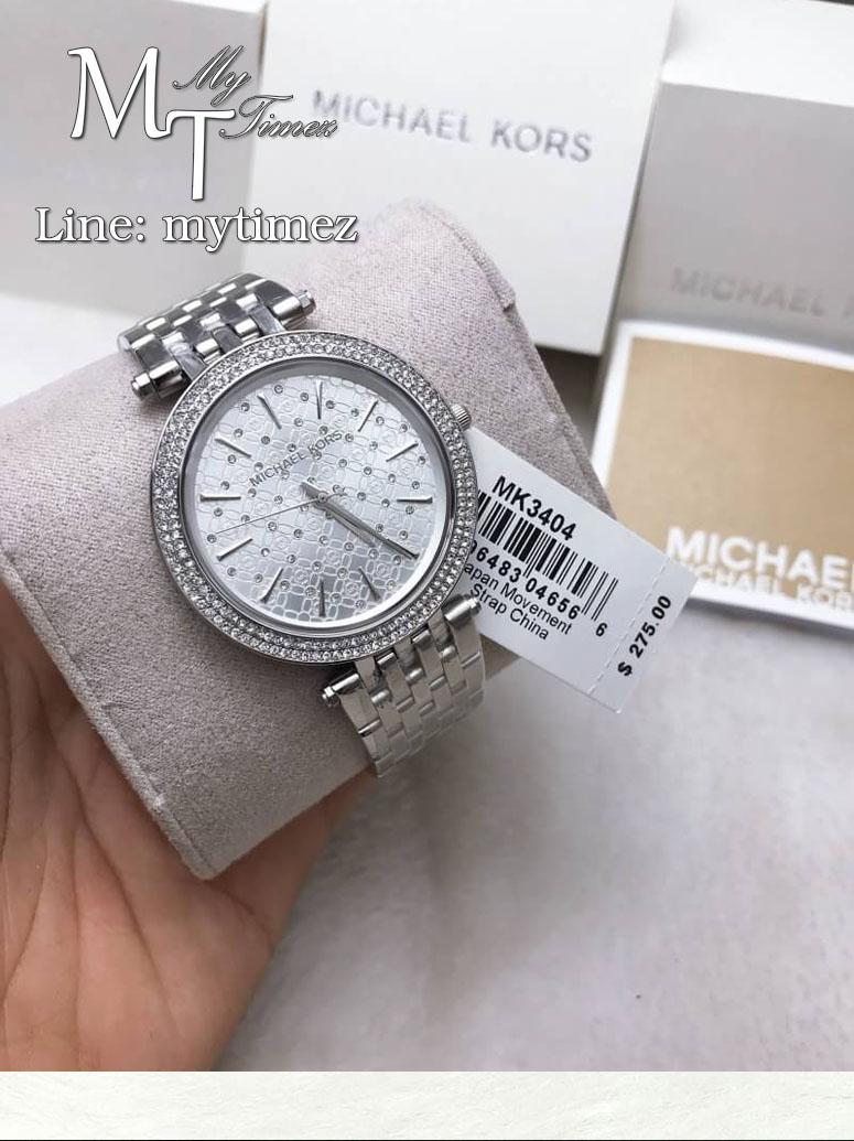 นาฬิกาข้อมือ MICHAEL KORS รุ่น Darci Silver Dial Crystal Stainless Steel Ladies Watch MK3404