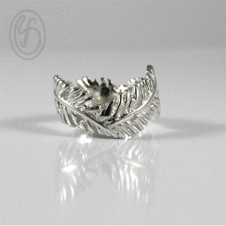แหวนเงินเกลี้ยง เงินแท้ 92.5% แหวนมงกุฏใบไม้ เงินขัดเงา หน้าหว้าง 10 มม.