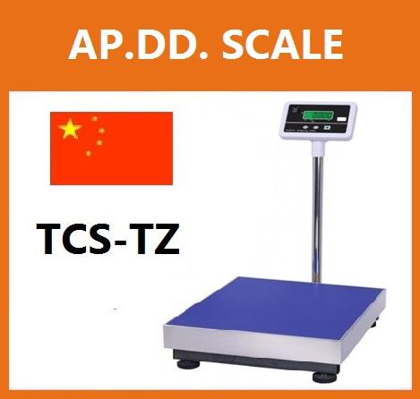 เครื่องชั่งดิจิตอล เครื่องชั่งแบบวางพื้น 600kg ความละเอียด 50g TCS-TZ600 Digital Scale platform scale ขนาดแท่น 60x80cm. มีแบตเตอรี่ชาร์ทในตัว