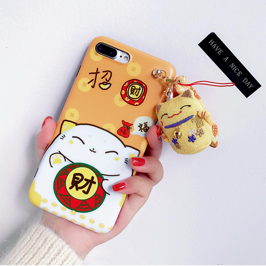 เคส iPhone แมวนำโชค สีเหลือง