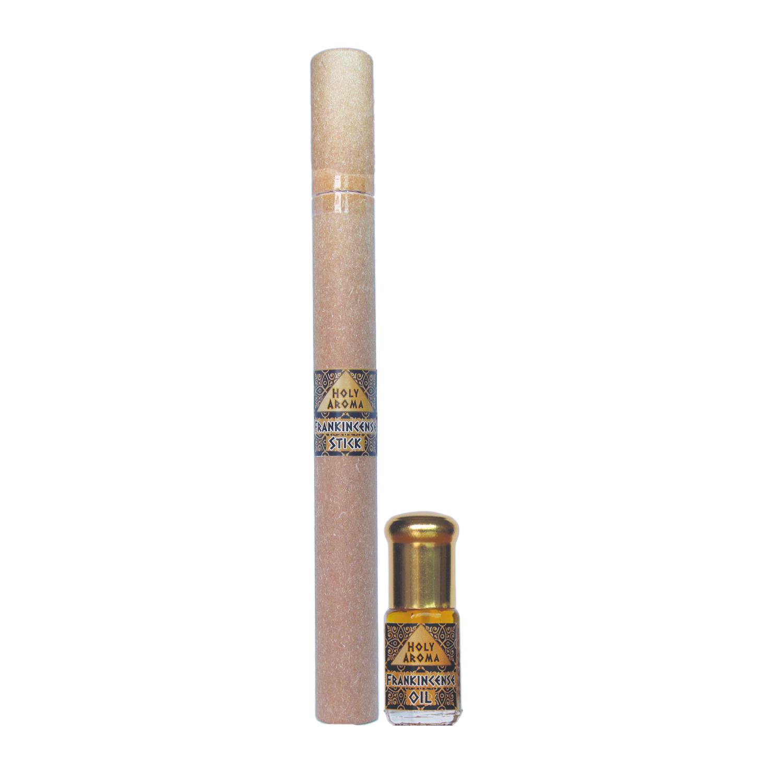 น้ำมันกำยาน อโรม่า Frankincense Oil แท้ 100% 3 ml.+ ธูปกำยาน ธูปแท่ง อโรม่า Frankincense Stick (Superior Grade) แท้ 100% 20g