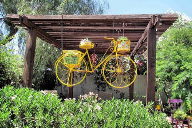 ไอเดียตกแต่งบ้านด้วยจักรยานคันเก่า 11