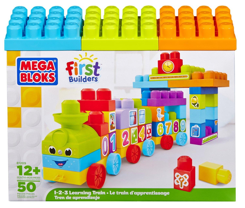 ตัวต่อรถไฟ Mega Bloks First Builders 123 Learning Train ชุดเรียนรู้ตัวเลข