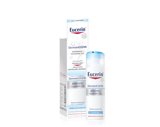 Eucerin DermatoCLEAN REFRESHING CLEANSING GEL เจลทำความสะอาดผิวหน้า