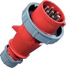 ปลั๊กตัวผู้ รุ่น AM-TOP ระบบสกรู-บอดี้เกียว ชนิดกันน้ำ IP67 32Amp 7 ขั้ว 400V