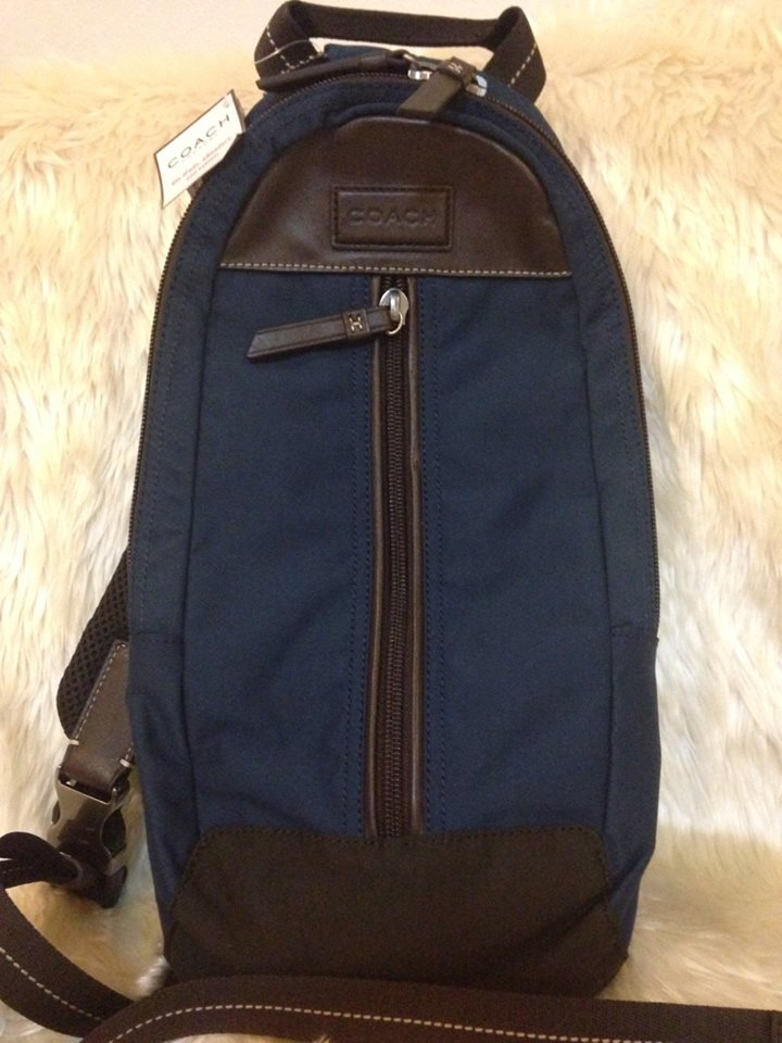 Coach F70692 BLUE VARICK NYLON SLING BAG