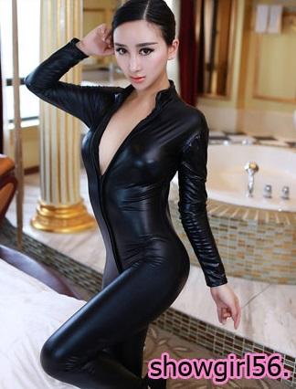 รหัส show girl 56 ชุดเนื้อผ้าผ้าหนัง พีวีซี