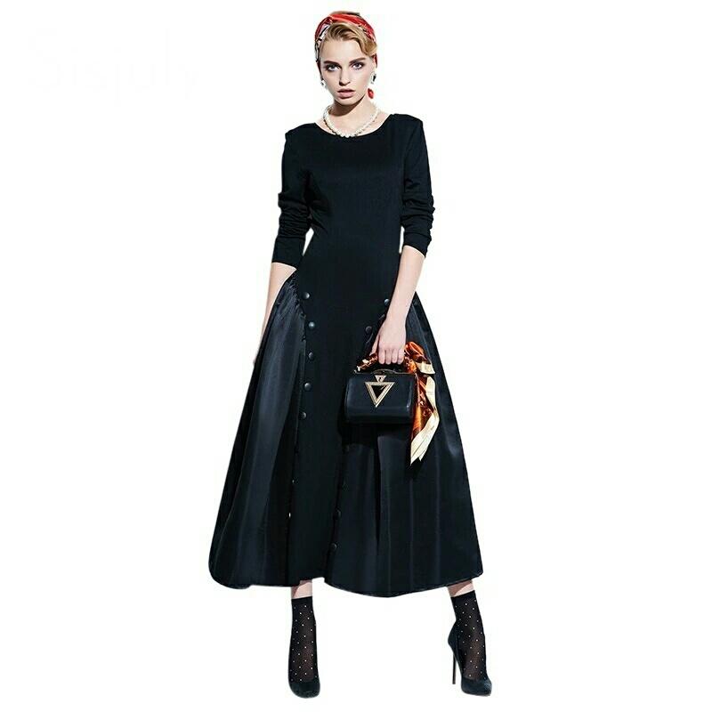 Classic Vฺintage Black Dress แต่งวินเทจ ด้วยชุดเดรสยาวสีดำแบบสุภาพ แขนยาว ชุดดำใส่ออกงาน หรือแต่งแบบแฟนซีได้