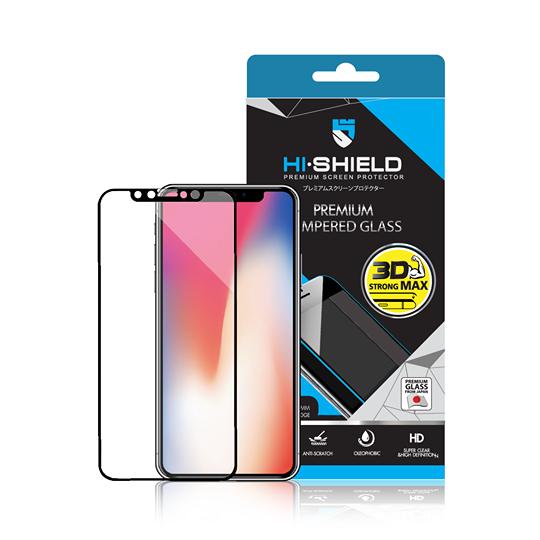iPhone X (เต็มจอ/3D) - กระจกนิรภัย Hi-Shield 3D Strong Max แท้