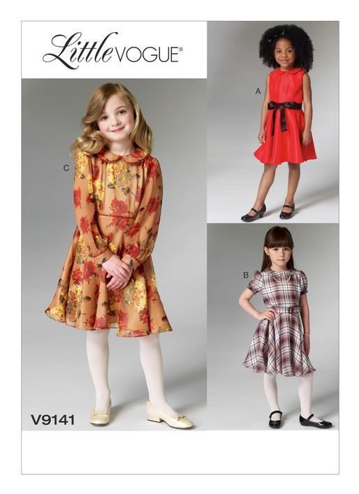 แพทเทิร์นตัดชุดเดรสเด็กหญิง Vogue 9141 Size: 3-4-5-6