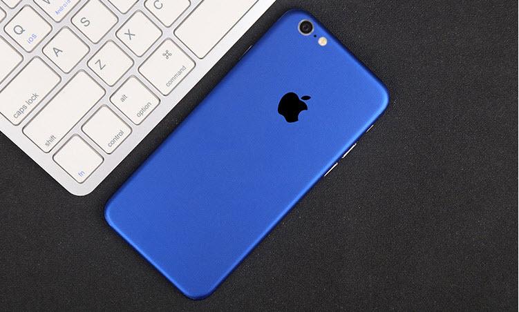 ฟิล์มหลังเครื่อง Iphone 6Plus/6sPlus (สีน้ำเงิน)