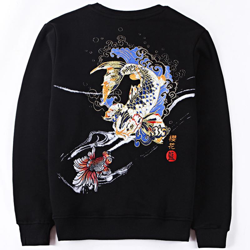 *Pre Order*Jinzhong embroidery เสื้อยืดแขนยาวผ้าฝ้ายปักลายไหมญี่ปุ่น size M-3XL