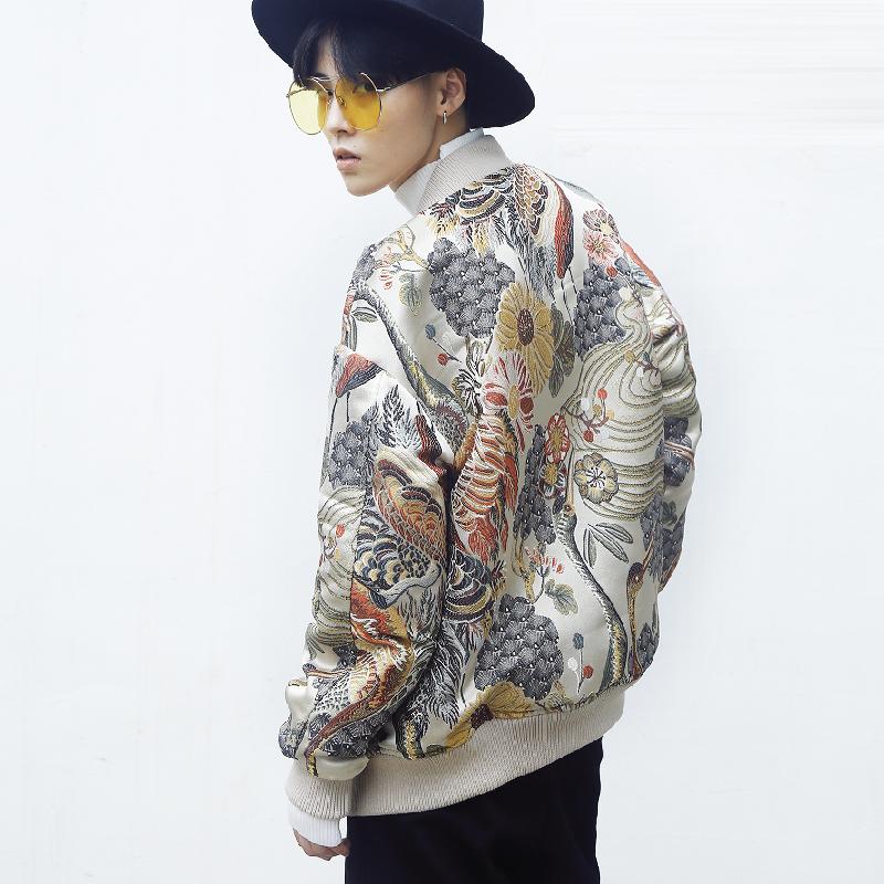 *Pre Order*Jacket แฟชั่นญี่ปุ่น/Yokosuka ผ้าโพลีเอสเตอร์ปักลายทั้งตัว size S-3XL