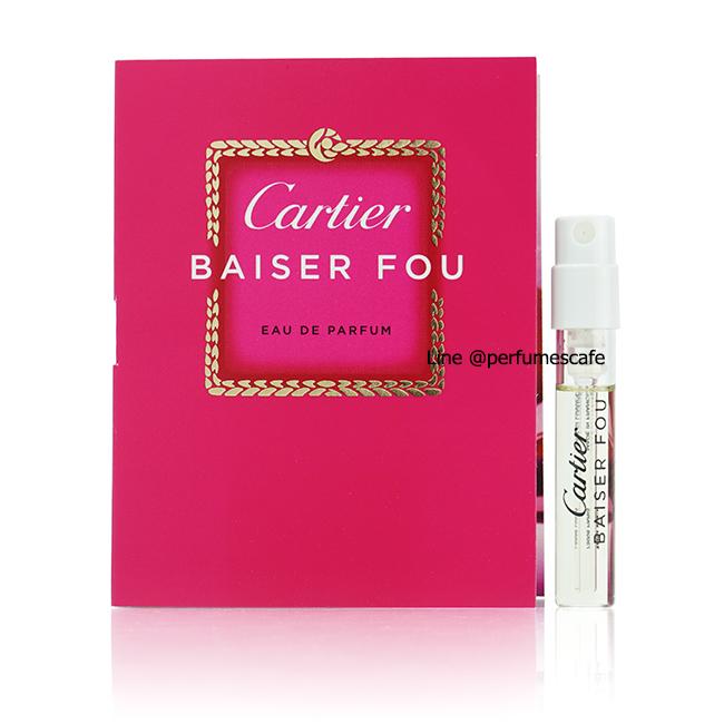 น้ำหอม Cartier Baiser Fou Eau de Parfum ขนาดทดลอง 1.5ml