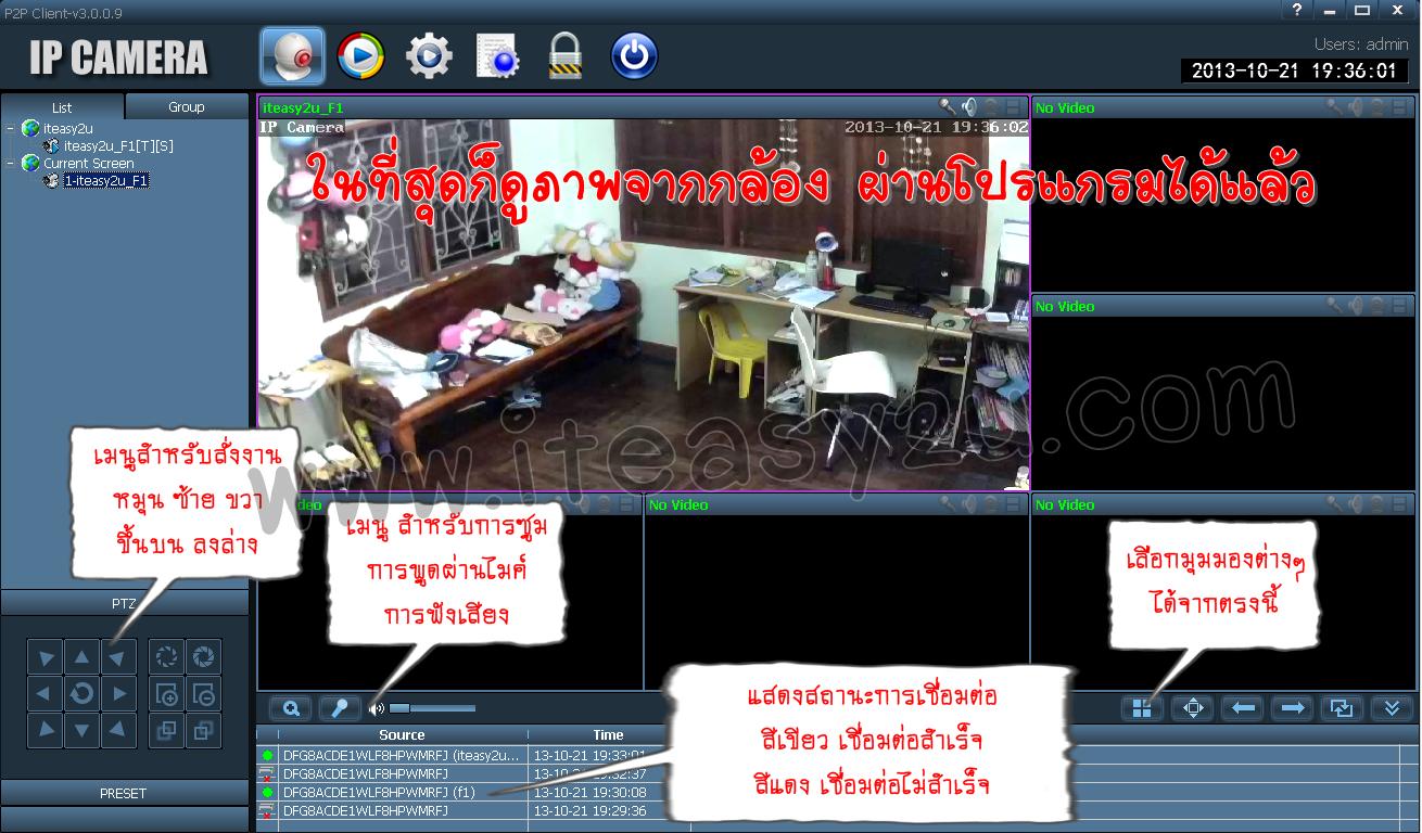 iteasy2u P2P add camera1