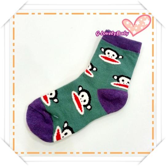 ถุงเท้าเด็ก ถุงเท้าพอลแฟรงค์ ลายลิง น่ารัก ขนาด 16 -19 cm