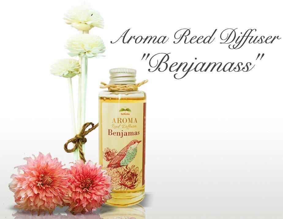 """THAI FLOWER BENJAMAS"" Aroma Reed Diffuser / น้ำมันหอมระเหยปรับอากาศ กลิ่นดอกเบญจมาศไทย"