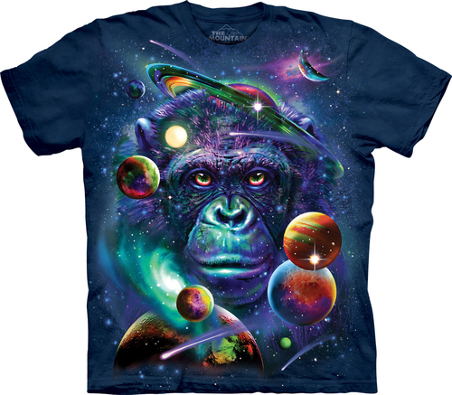 Pre.เสื้อยืดพิมพ์ลาย3D The Mountain T-shirt : Cosmic Chimp T-Shirt
