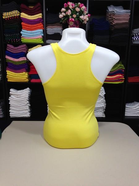 เสื้อกล้ามหลังสปอร์ต สีเหลืองดอกคูณ