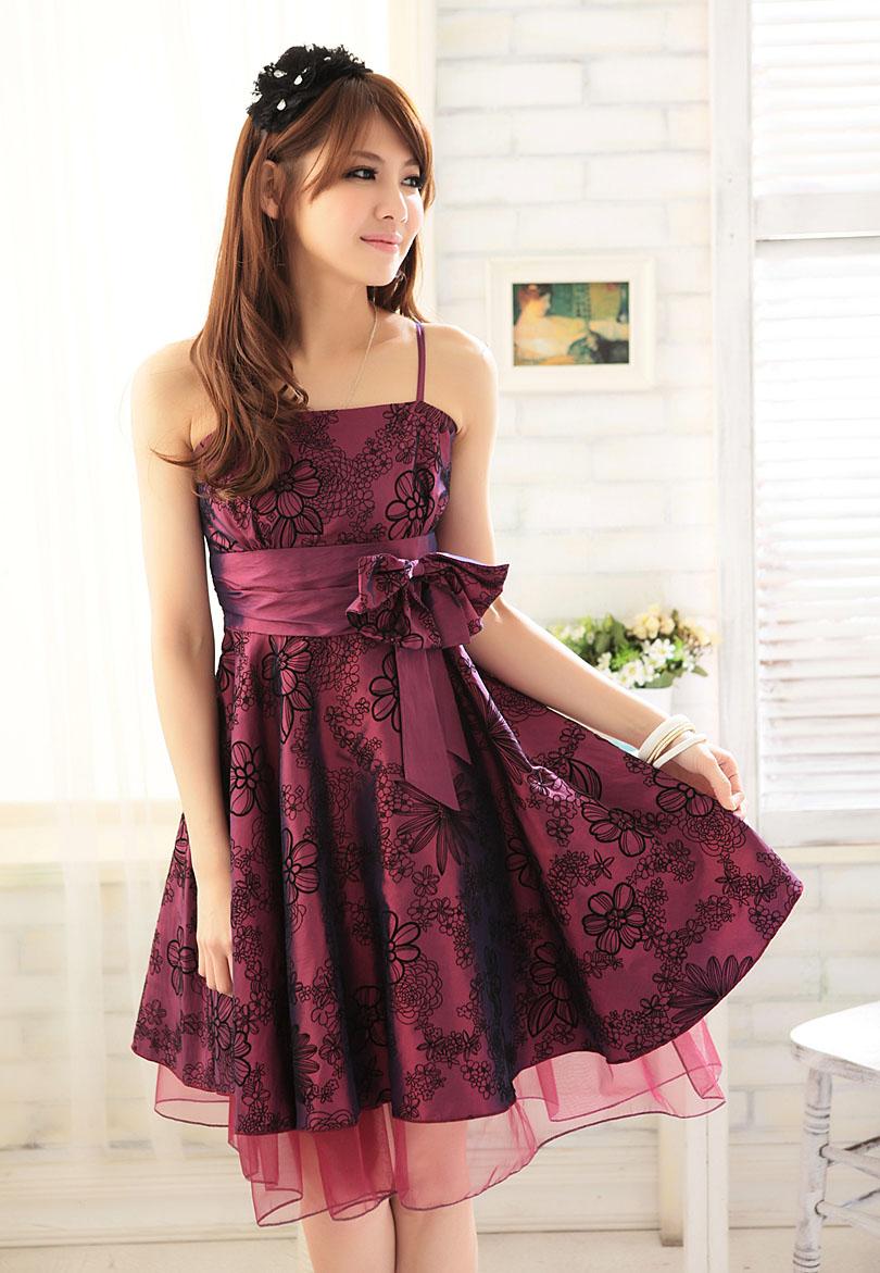 ++เสื้อผ้าไซส์ใหญ่++LY* Pre-Order* ชุดเดรสออกงานไซส์ใหญ่ลายดอกไม้แต่งโบว์ตรงเอวมีซับในสวยค่ะ