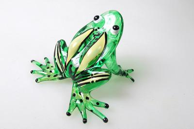 กบแก้วเป่า Glass Figurine Frog