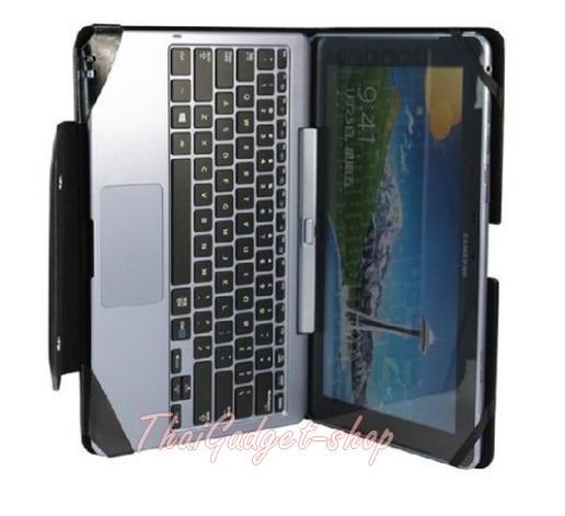 """เคสหนัง Samsung ATIV Smart PC TAB5 500T 11.6"""" ตรงรุ่น หุ้มคีย์บอร์ด แยกชิ้นส่วนได้"""