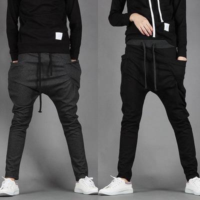 กางเกงวอร์มขายาวเกาหลี ทรงเข้ารูป แต่งกระเป๋ากางเกง มี6สี