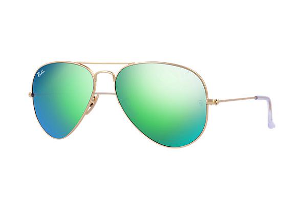 แว่นตา Ray-Ban RB3025 112/19 58-14 AVIATOR FLASH LENSES GREEN FLASH