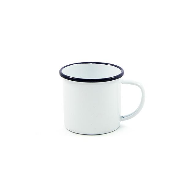 Enamel Mug 9cm (Blue rim)