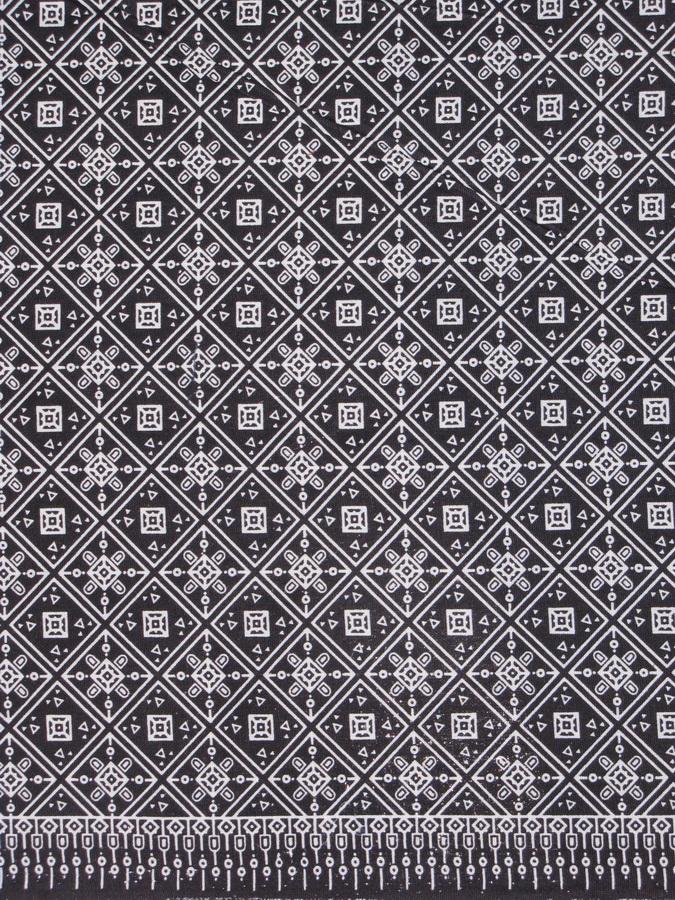 ผ้าถุงขาวดำ ec13074bk