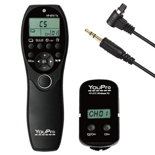 YouPro Wireless Timer Remote YP-870/N3 Canon 50D, 40D, 30D, 20D, 20Da, 10D, 7D, 6D, 5D Mark III, 5D Mark II, 5D,1DX, 1Ds, 1Ds Mark III, 1Ds Mark II, 1D Mark IV, 1D Mark III, 1D Mark II N, 1D Mark II, 1D, D60, D30, 1V