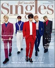 นิตยสารSingles 2017.01 หน้าปก BTS