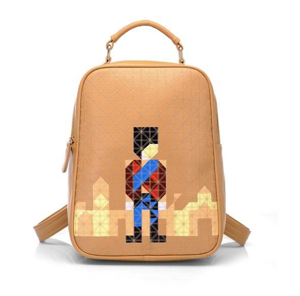 กระเป๋าแฟชั่น beibaobao สีกากี คุณภาพดีแนวสปอร์ตเกิร์ลดูทะมัดทะแมง เปลี่ยนเป็นเป้ได้