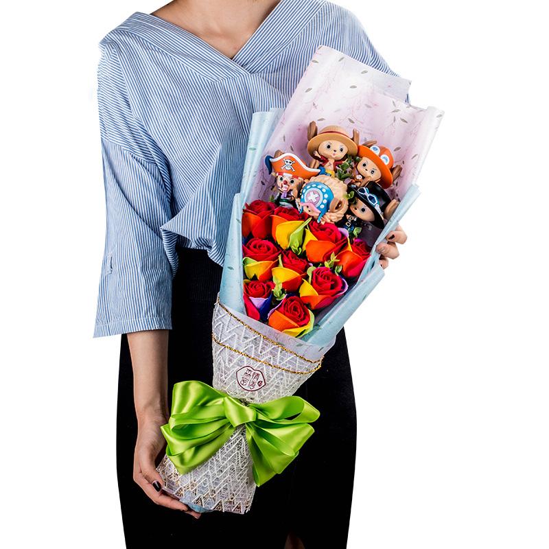 ช่อดอกไม้โมเดลการ์ตูนวันพีชช๊อปเปอร์ (แบบที่ 9)