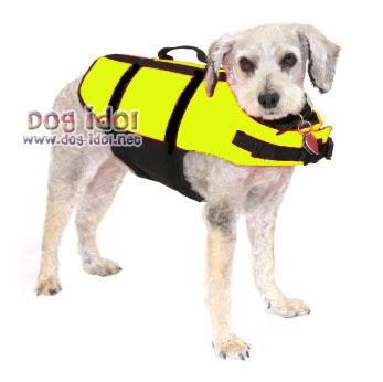 **พร้อมส่ง** เสื้อชูชีพสำหรับสุนัข : ไซส์ 1 สีเหลืองสะท้อนแสง