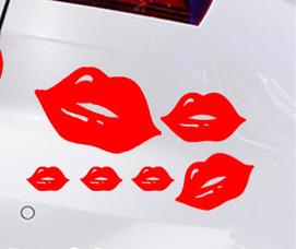 สติ๊กเกอร์ริมฝีปากสีแดง (1 Set มี 6 ชิ้น)