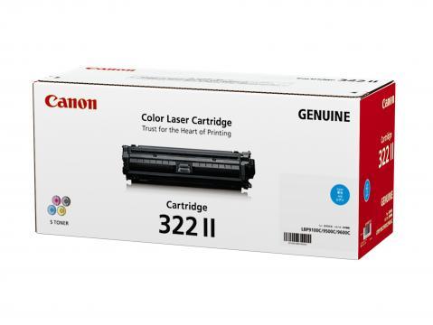 Canon Cartridge-322IIC ตลับหมึกโทนเนอร์ สีฟ้า Cyan Original Toner Cartridge