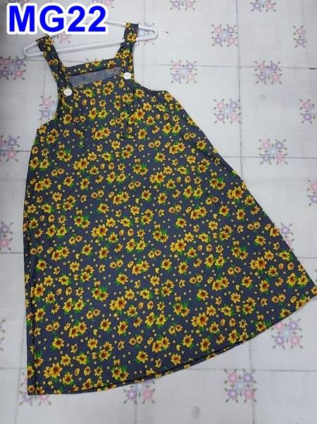 #เอี้ยมกระโปรงคลุมท้องแฟชั่น สีกรม ลายดอกไม้ สายปรับได้ 4 ระดับมีกระเป๋า 2ข้าง สวมใส่กับเสื้อน่ารักฝุดๆเลยจร้า