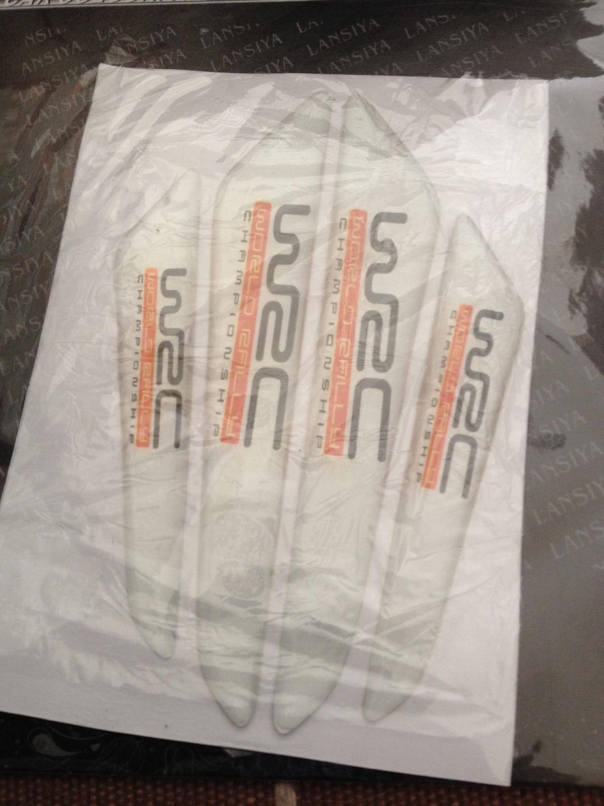 สติ๊กเกอร์ติดรถยนต์ Cushion Door Guard WRC สีขาว (1 pack/4 ชิ้น)