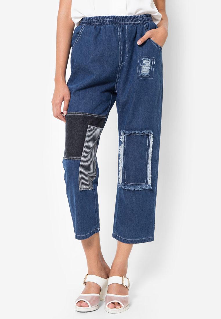 กางเกงยีนส์ Patch Detailing